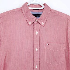 TOMMY HILFIGER Pinstripe Shirt Casual Button Small
